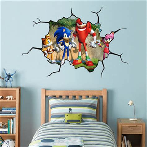 sonic wall stickers sonic hedgehog 8 characters set decal from printadream on etsy