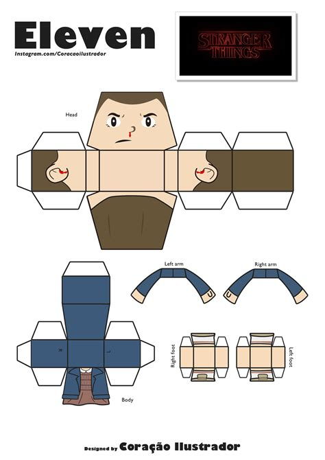 Papercraft Pdf - cora 231 227 o ilustrador things papercraft
