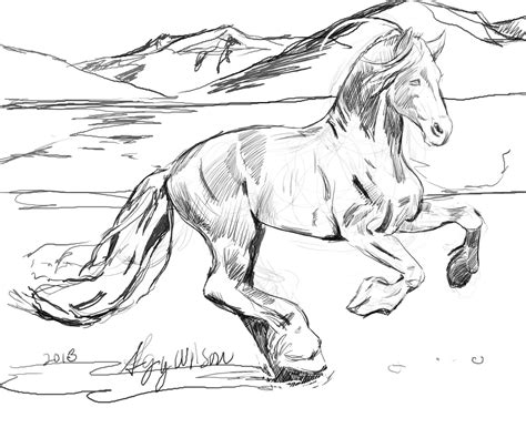 coloring page of horse running coloring page of horse running coloring pages of horses