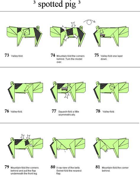 Origami Pig Diagram - origami origami pig