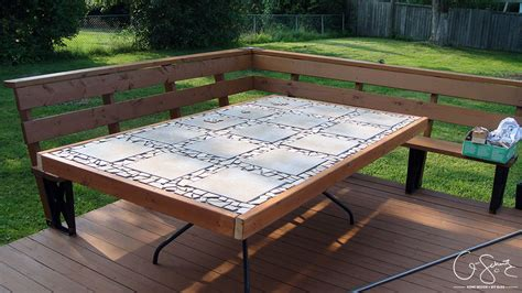 Diy Patio Table Top Our Custom Patio Table Madness Method