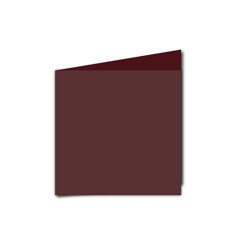 Square Maroon small square maroon card blanks