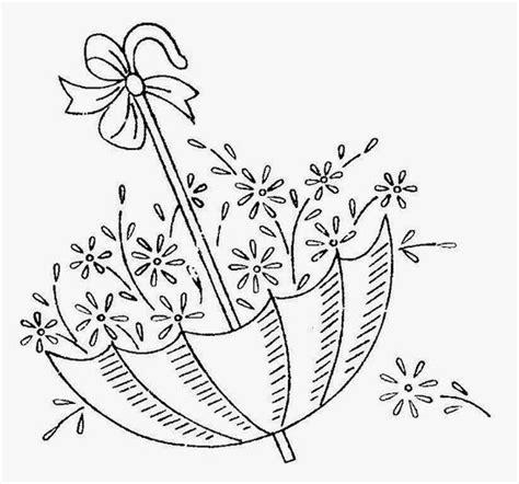 disegno da ricamare ombrello pieno di fiori magiedifilo
