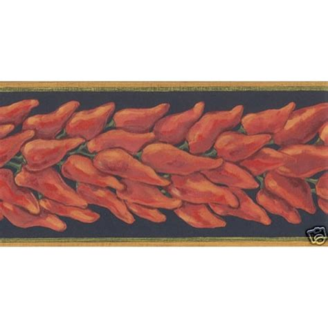 Red Peel And Stick Wallpaper by Red Mexican Chili Peppers Wallpaper Border Pe620b