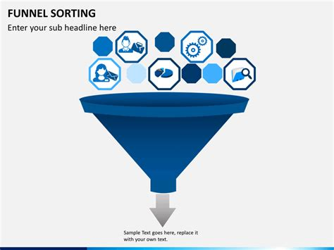 Funnel Sorting Powerpoint Template Sketchbubble Funnel Graphic Powerpoint