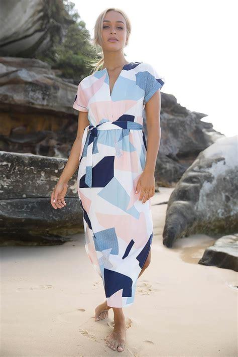Dress Mrs White mrs roper dress white navy coral print shopperboard