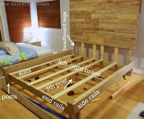 Size Pallet Bed Plans by How To Build A Custom King Size Bed Frame Via