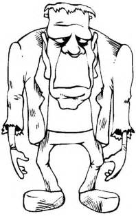 frankenstein coloring pages fearsome frankenstein coloring page print