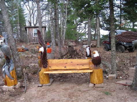 chainsaw benches hand made eagle bench by woodworks chainsaw carving
