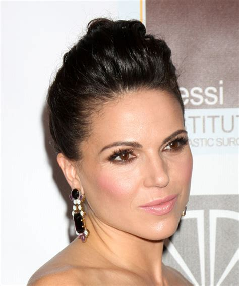 Lana Parrilla Updo Long Straight Formal Wedding Updo