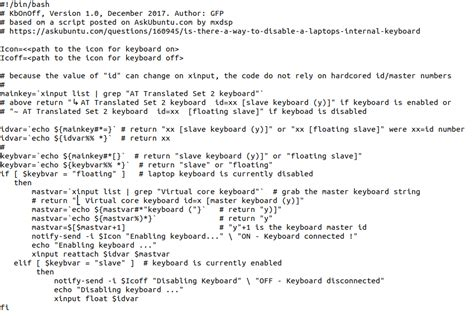 xinput tutorial ubuntu enable disable keyboard or laptop touchpad with bash