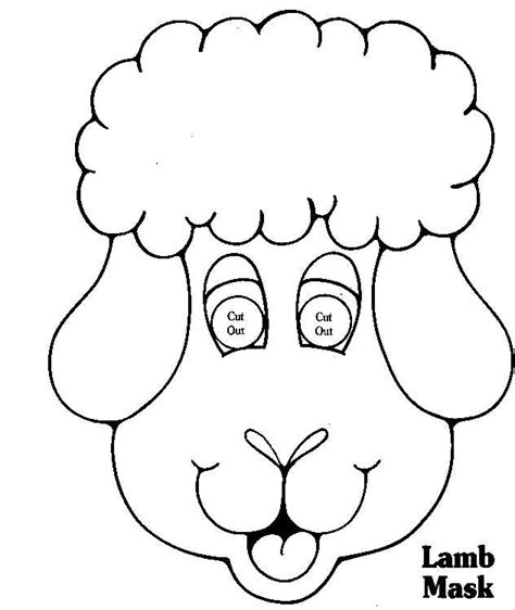 farm animal mask templates free coloring pages of sheep mask