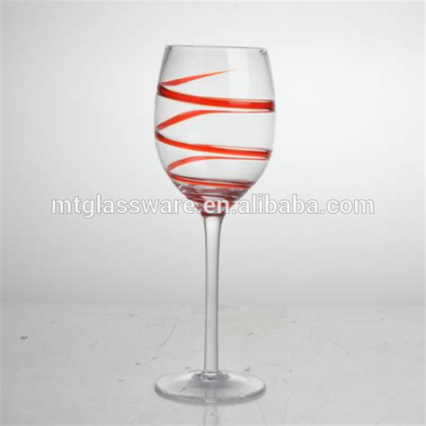Handmade Cocktail Glasses - wholesale fancy handmade fda glass wine with swirl