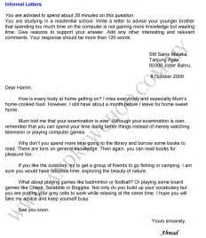 Essay Informal Letter Format by Informal Letter Sle Essay