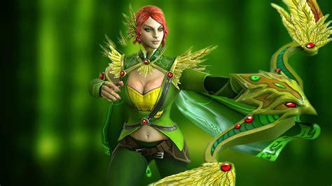 wallpaper dota 2 wind ranger video game dota 2 gallery windranger shooter forest girl