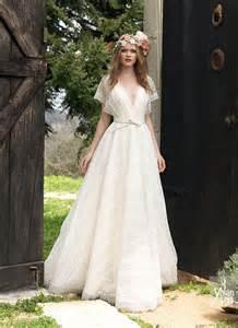 Vestido de noiva romantico simples estilo hippie vintage yolancris