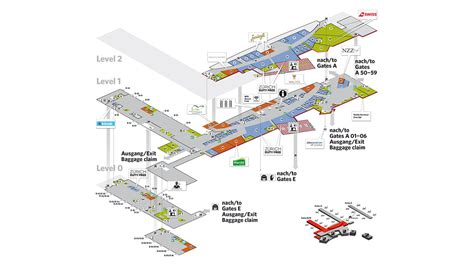 zurich airport layout map site plans flughafen z 252 rich
