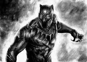 The black panther drawing tutorial step by step marvel characters