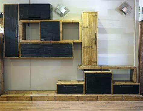 mobili soggiorno legno mobile soggiorno etnico moderno in legno e bambu