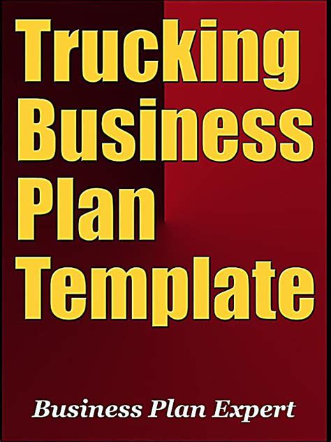 trucking business plan template trucking business plan template including 6 special