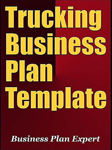 trucking business plan template free trucking business plan template including 6 special