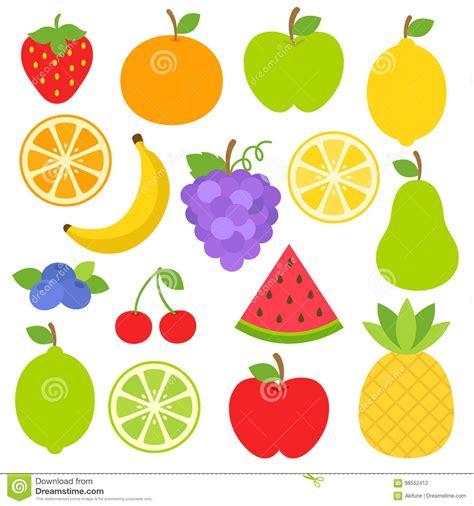 clipart frutta clipart di frutti illustrazione vettoriale illustrazione