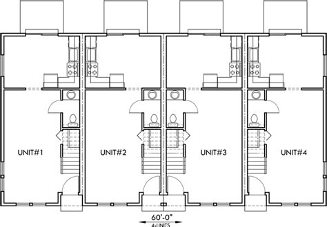 4 plex plans townhome plans 15 ft wide house plans