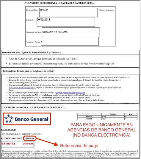 que es banco general solicitar una visa opciones de pago y de banco pagar la