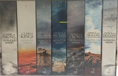 the song of seven books a of thrones song of and 7 volume book set