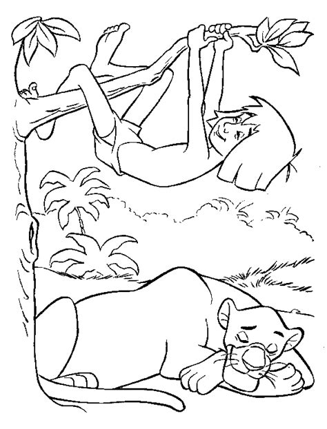 coloring page junglebook coloring pages 2