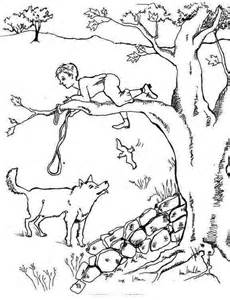 print download peter and the wolf coloring pages