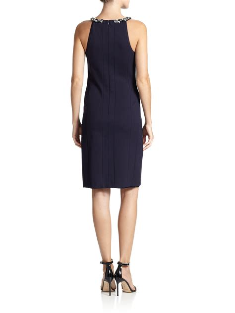 Cutout Sheath Knit Dress laundry by shelli segal cut out knit sheath in blue lyst