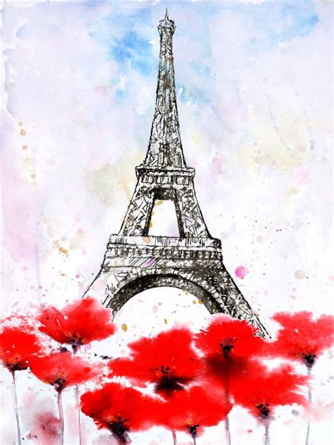 eiffel tower watercolor cerca con torre eiffel tower watercolor and