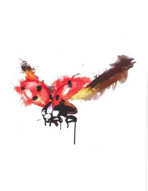 flying ladybug tattoo designs luxury watercolor flying ladybug design