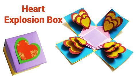 explosion box heart tutorial how to make heart explosion box easy exploding box