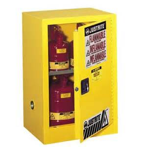 Yellow Storage Cabinet Justrite Compac 12 Gallon Yellow Storage Cabinet For Flammable Liquids Safety Cans With Manual
