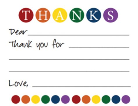 Thank You Letter To 1st Grade What Do You Think Writing Thank You Notes