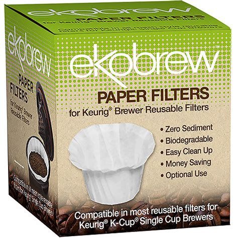 Coffee Filter Paper 50pcs 24 Serve 1 upc 852748003290 optional coffee paper filter for ekobrew single serve filter 300 count