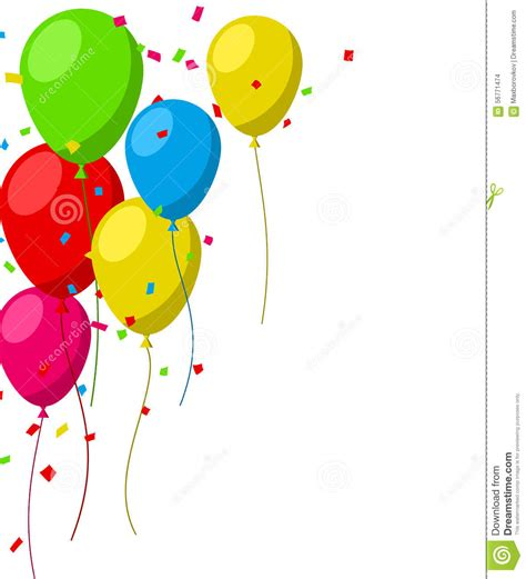 celebrate color celebrate background with flat balloons stock vector