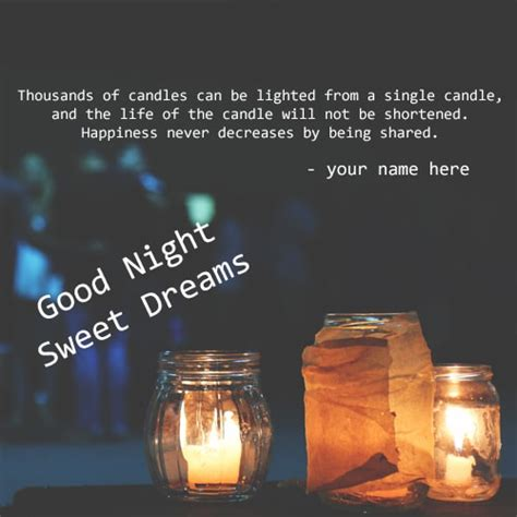 good night sweet dreams candles  pix