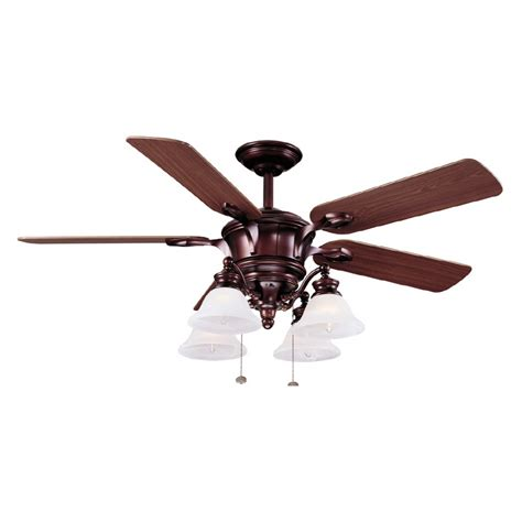 harbor bellhaven ceiling fan shop harbor 52 quot bellhaven bronze ceiling fan at