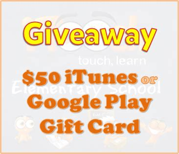 How To Send A Google Play Gift Card Online - giveaway 50 itunes or google play gift card igamemom