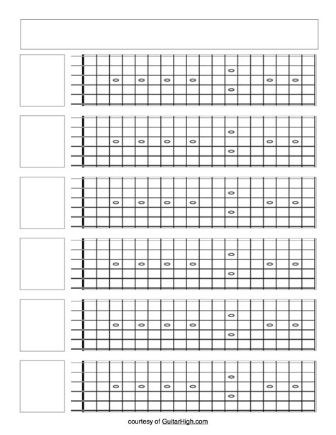 printable guitar fretboard template 6 printable blank guitar fretboards on one page guitar high
