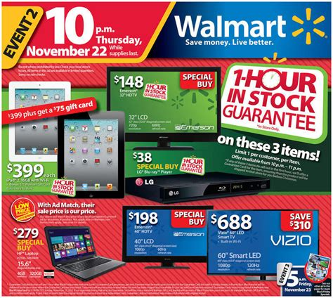 Black Walmart by Walmart Black Friday 2013 And Cyber Monday Sales Outlined