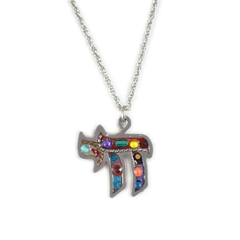 Multi Color Pendant Necklace jewelry pendant necklace multi colored chai