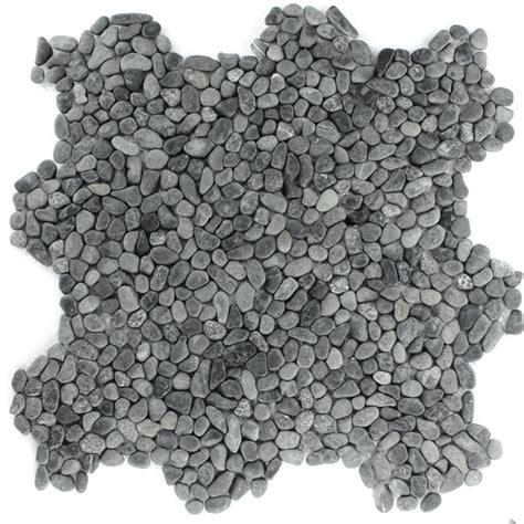 kiesel fliesen kieselstein flussstein kiesel stein mosaik fliesen schwarz