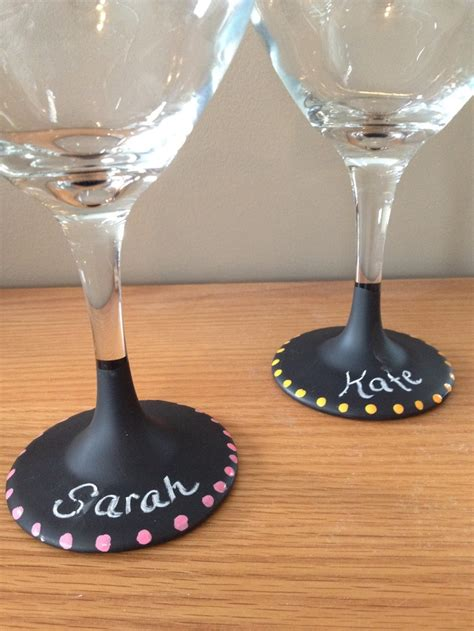 chalkboard paint ideas wine glasses 17 best images about crafts wine glass painting on