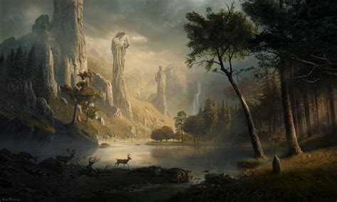 Aigner 668 Sale solace inspired by albert bierstadt by sarel theron