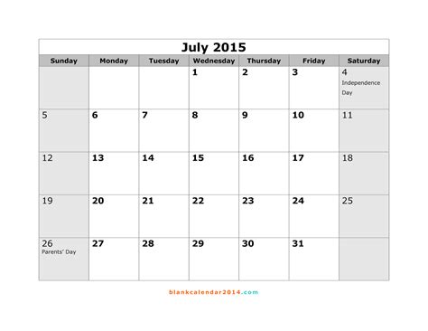 printable monthly calendar for july 2015 free printable calendar free printable calendar july