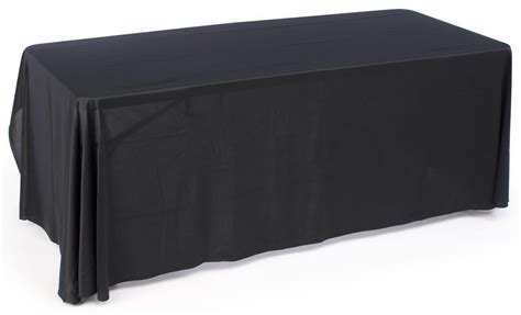 Black Table Covers by Black Plain Table Cover 6 Ft
